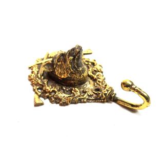 Kleiderhaken Gerderobenhaken Bronze - Wildschwein (Handarbeit)