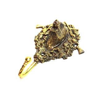 Kleiderhaken Garderobenhaken Bronze - Braunbär (Handarbeit)