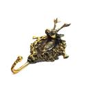 Kleiderhaken Garderobenhaken Bronze - Hirsch (Handarbeit)