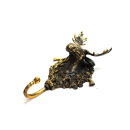 Kleiderhaken Garderobenhaken Bronze - Elch (Handarbeit)