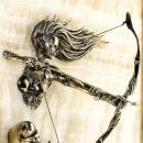 Gemälde Archer Kriegermädchen