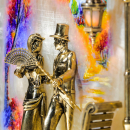 Gemälde Abendspaziergang Moskau mit Hintergrundbeleuchtung