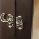 """Schlüsselboard """"Vogel"""" mit Hintergrundbeleuchtung, Bronze Patiniert, Onyx & Eschenholz"""