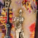 """Gemälde """"Der Typ mit der Rose. Herbst"""""""