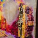 """Gemälde """"Abendspaziergang. Straße der Romantik"""""""