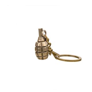 "Schlüsselanhänger Handgranate ""Bullet"" Bronze patiniert"