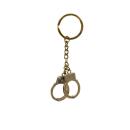 Schlüsselanhänger Handschellen Bronze patiniert