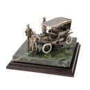 "Diorama ""Henry Ford mit dem Modell T"" Maßstab 1:24 Bronze Patiniert"