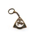 Schlüsselanhänger - Stier ( als Sternzeichen ) patinierte Bronze
