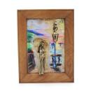"""Gemälde """"Mädchen mit Regenschirm Promenade..."""