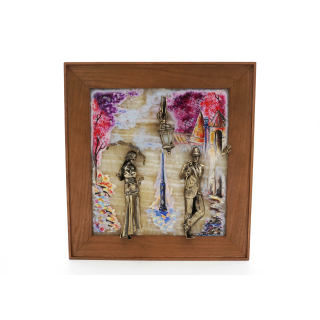 "Gemälde mit Beleuchtung ""Paar Frühling"""