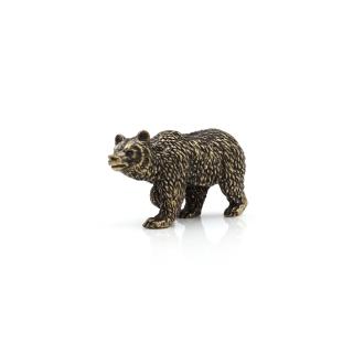 Bronzefigur stolzer Braunbär