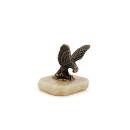 Bronzefigur Adler aus Pjatigorsk auf Onyx